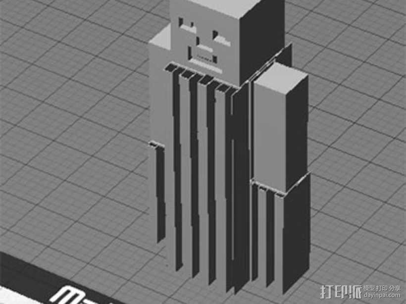 四肢可动的末影人模型 3D模型  图6
