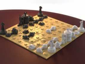 火星基地象棋 3D模型