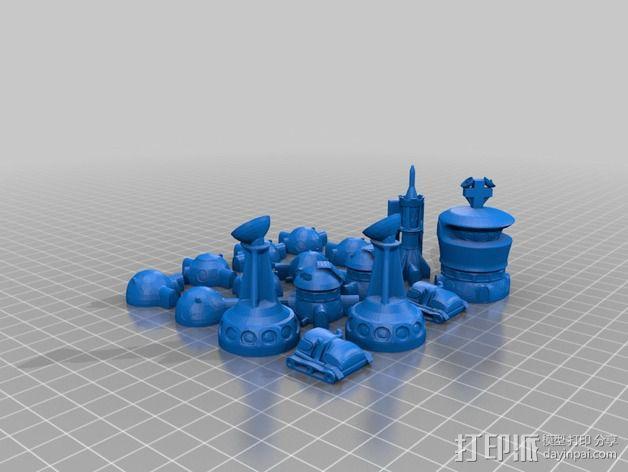 火星基地象棋 3D模型  图2