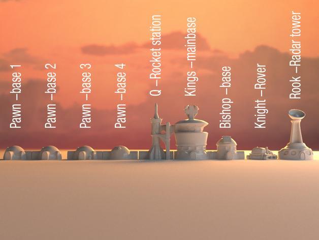 火星基地象棋 3D模型  图3