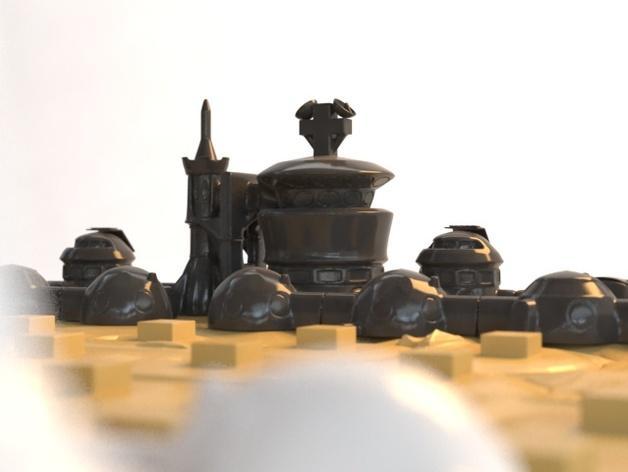 火星基地象棋 3D模型  图6