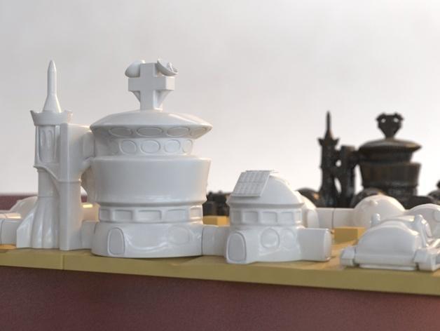 火星基地象棋 3D模型  图4