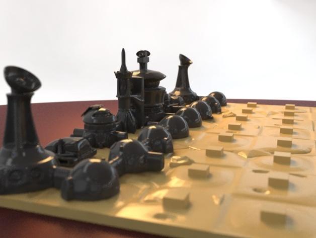 火星基地象棋 3D模型  图7