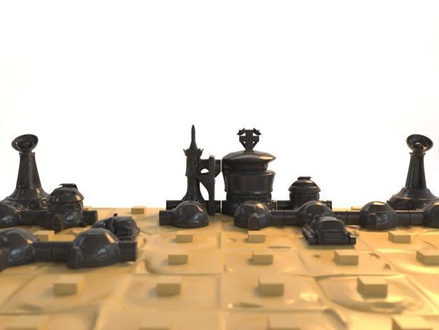 火星基地象棋 3D模型  图5