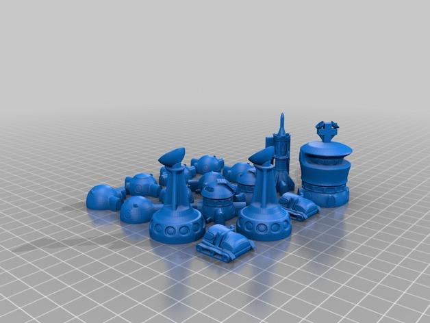 火星基地象棋 3D模型  图9