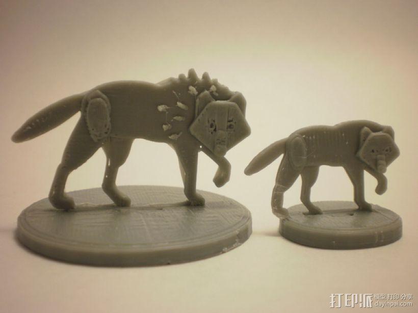 扁平型玩偶:恐惧之狼 3D模型  图1