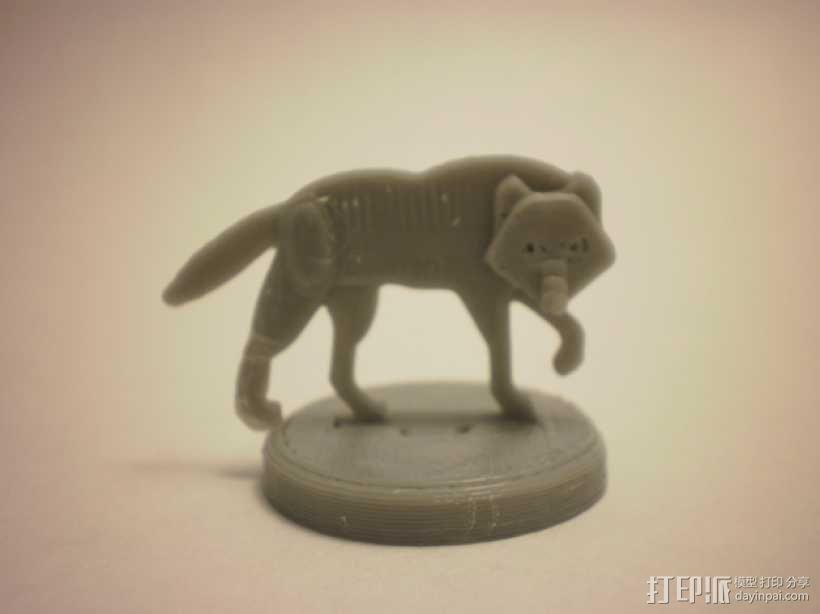 扁平型玩偶:恐惧之狼 3D模型  图3