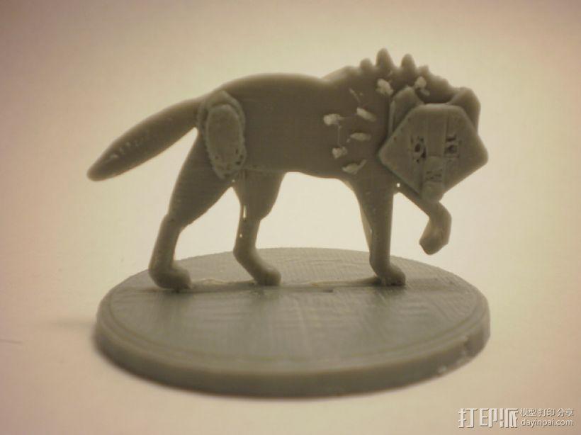扁平型玩偶:恐惧之狼 3D模型  图2