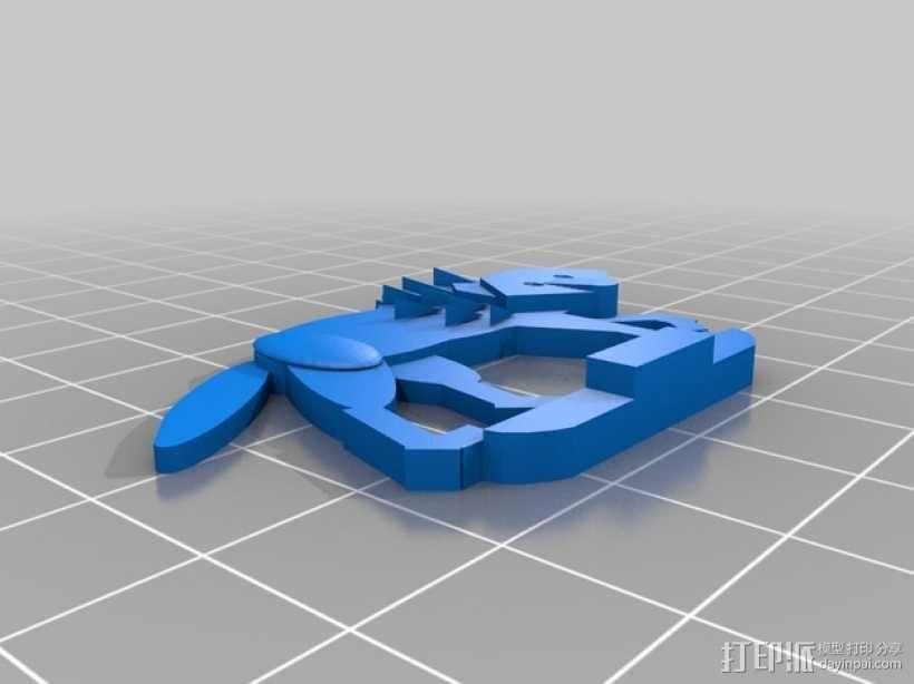 扁平型玩偶:恐惧之狼 3D模型  图6
