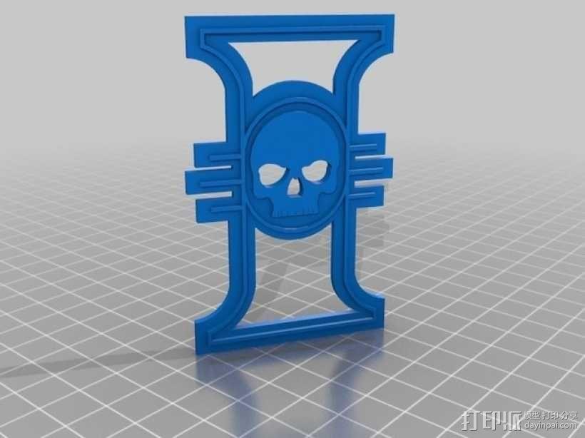 战锤宗教裁判所标志 3D模型  图2