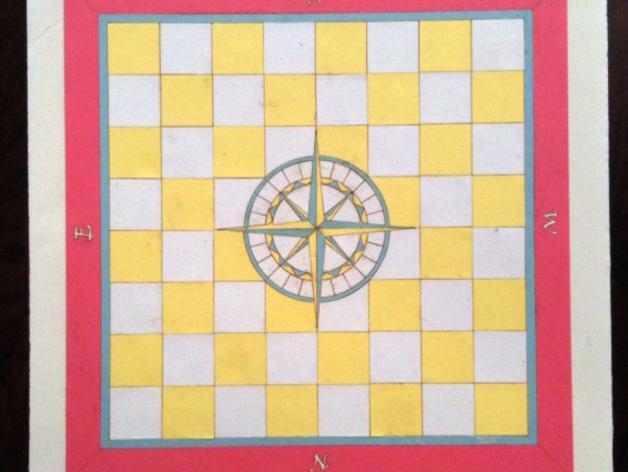 嵌有罗盘刻度盘的象棋棋盘 3D模型  图4