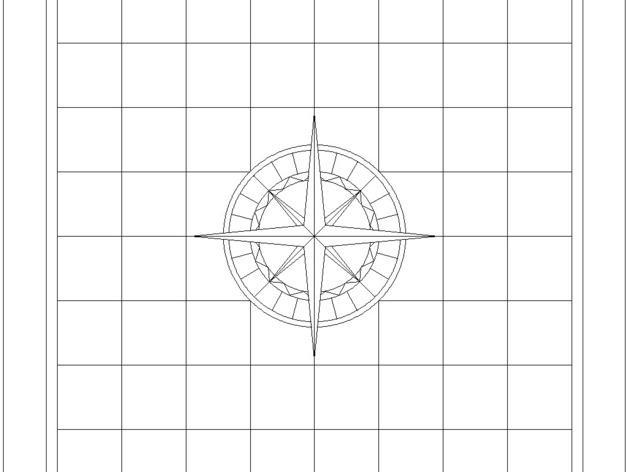 嵌有罗盘刻度盘的象棋棋盘 3D模型  图9