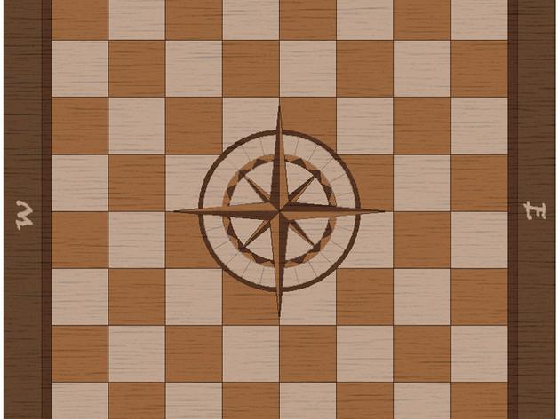 嵌有罗盘刻度盘的象棋棋盘 3D模型  图10