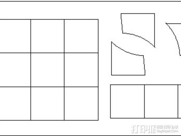 嵌有罗盘刻度盘的象棋棋盘 3D模型  图8