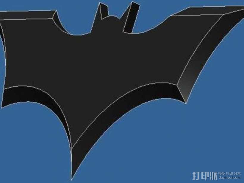 蝙蝠型飞镖 3D模型  图2