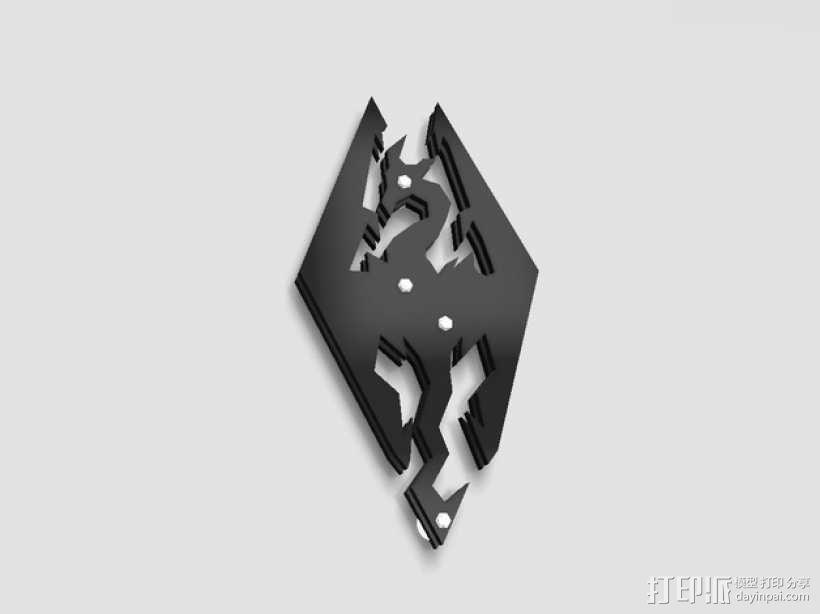 天际标志的钥匙扣 3D模型  图1