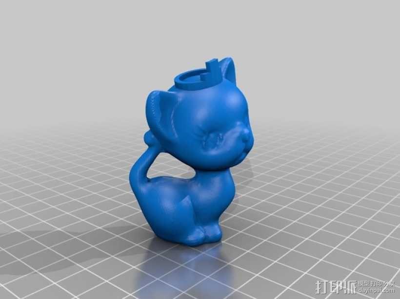 小猫形象棋套件 3D模型  图3
