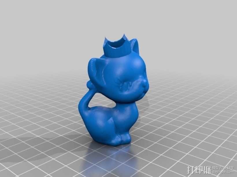 小猫形象棋套件 3D模型  图5