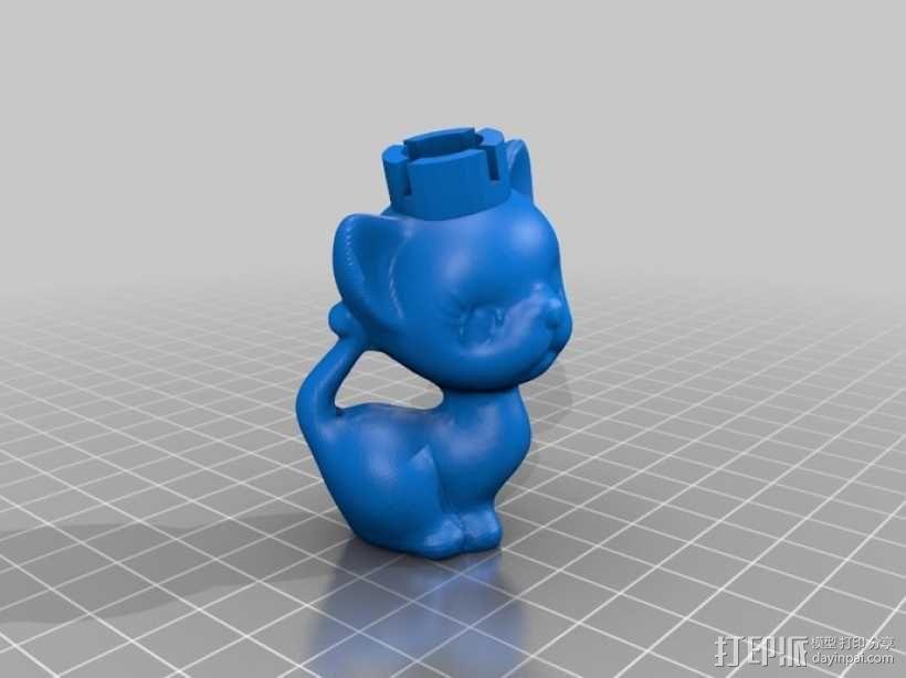 小猫形象棋套件 3D模型  图6