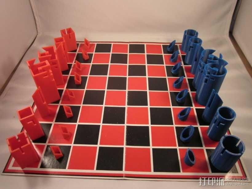 带有艺术气息的象棋 3D模型  图1