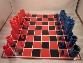 带有艺术气息的象棋 3D模型