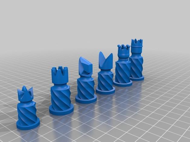 圆柱形象棋套件 3D模型  图3