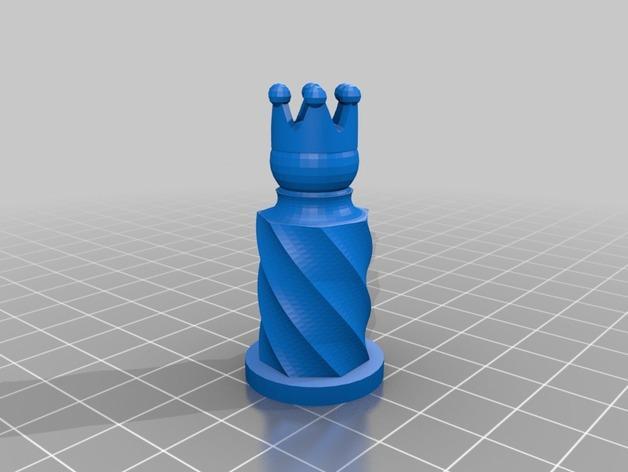 圆柱形象棋套件 3D模型  图5