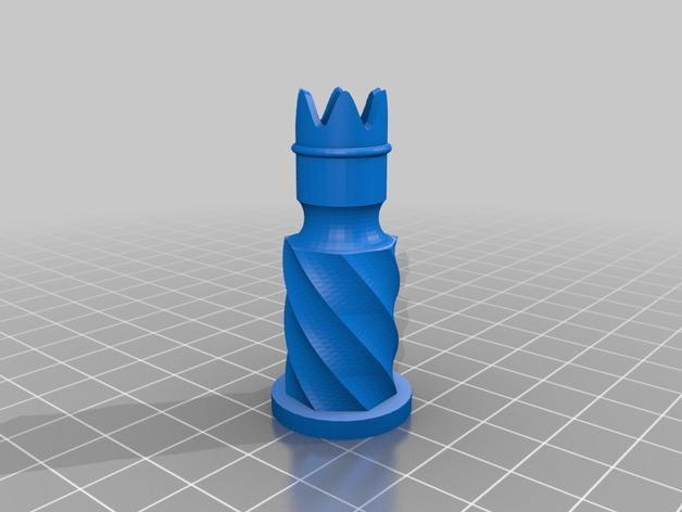 圆柱形象棋套件 3D模型  图4