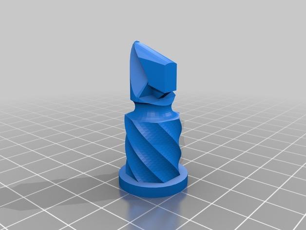 圆柱形象棋套件 3D模型  图7