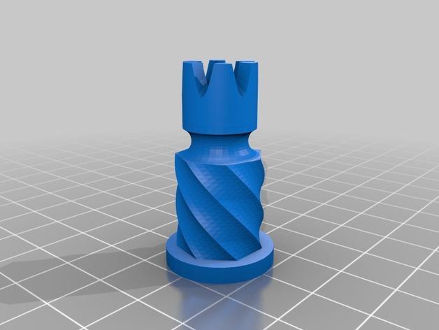 圆柱形象棋套件 3D模型  图6