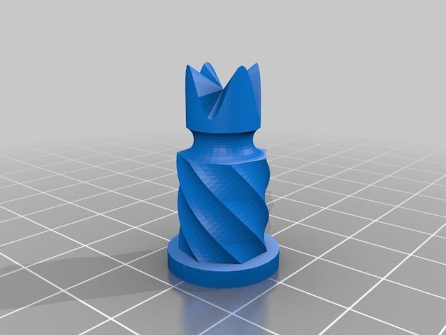 圆柱形象棋套件 3D模型  图9