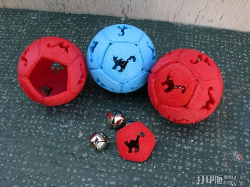 猫形镂空球体 3D模型  图1