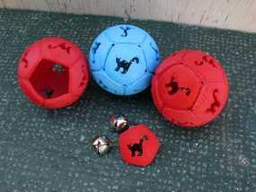 猫形镂空球体 3D模型