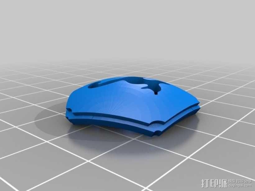 猫形镂空球体 3D模型  图3