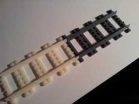 直线型乐高火车车轨 3D模型