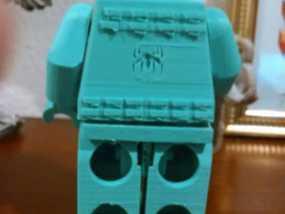 蜘蛛侠标志的乐高玩具 3D模型