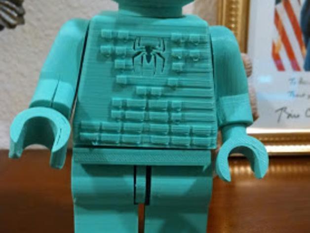 蜘蛛侠标志的乐高玩具 3D模型  图4