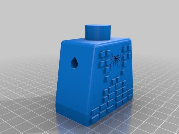 蜘蛛侠标志的乐高玩具 3D模型  图2