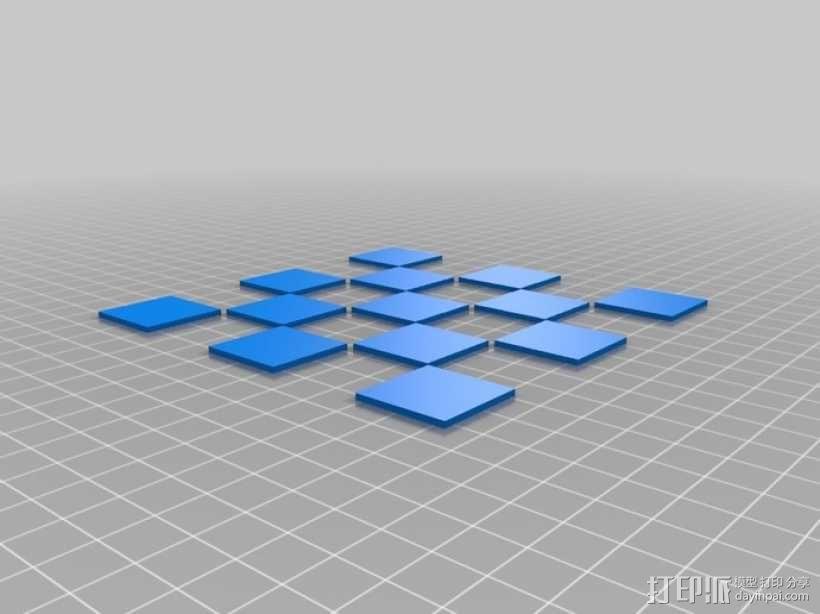 锡瓦斯棋棋盘 3D模型  图2