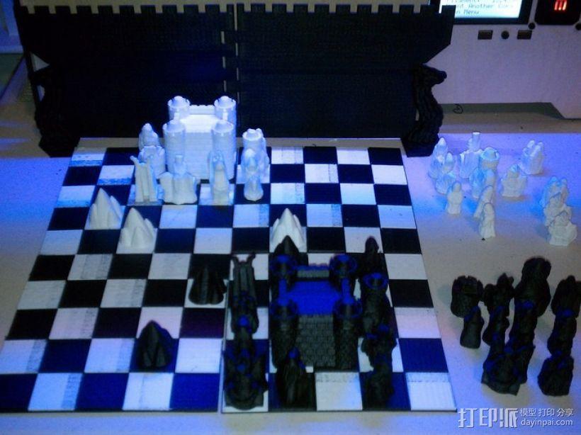 锡瓦斯棋棋盘 3D模型  图1