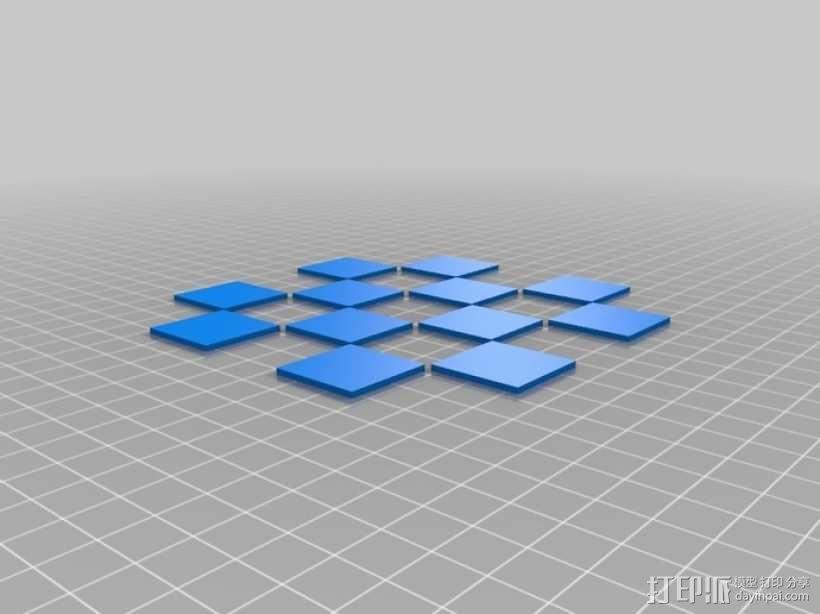 锡瓦斯棋棋盘 3D模型  图4