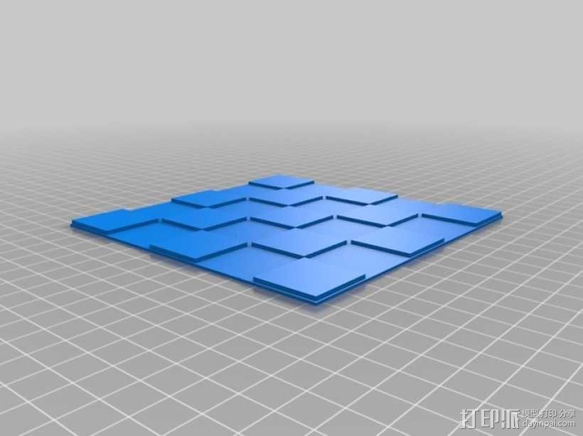 锡瓦斯棋棋盘 3D模型  图3
