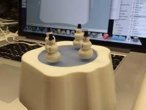 站在冰上的小雪人 3D模型