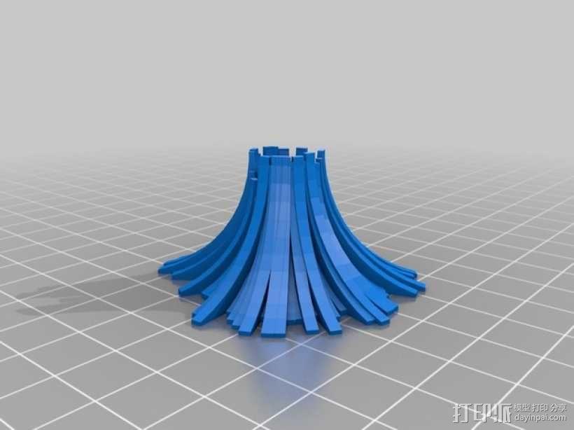 程式化火山模型 3D模型  图4