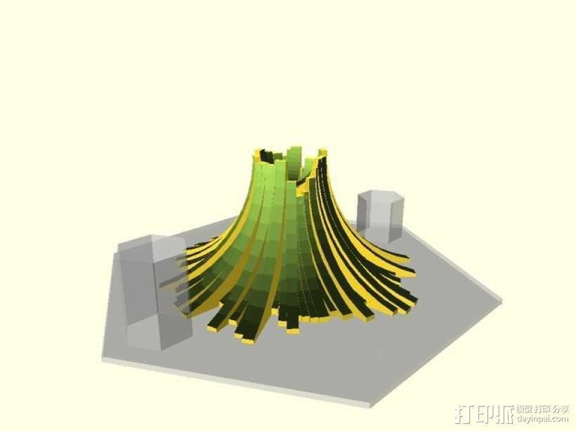 程式化火山模型 3D模型  图5