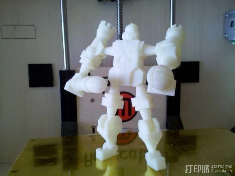 国际象棋机器人玩偶 3D模型  图1