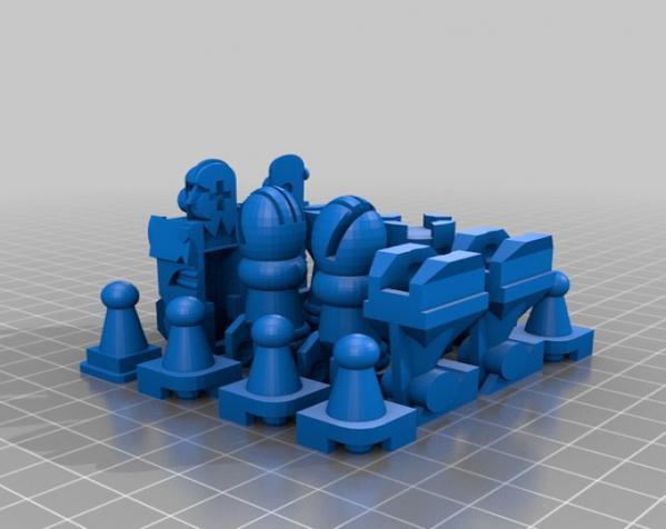 国际象棋机器人玩偶 3D模型  图4