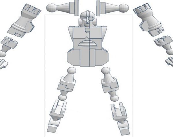 国际象棋机器人玩偶 3D模型  图3