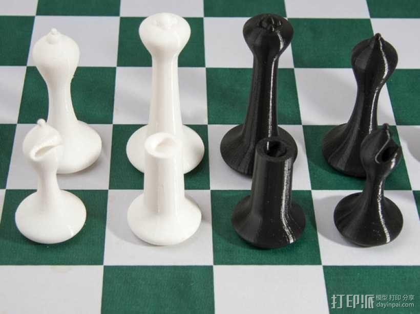 斯顿汤国际象棋模型1 3D模型  图1