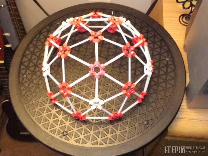 3D打印网格球形玩具 3D模型  图1